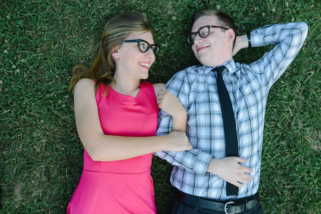 A quirky Morgantown engagement shoot for high school sweethearts // photos by Lauren Love Photography: http://www.laurenlovephotography.com || see more on https://blog.nearlynewlywed.com