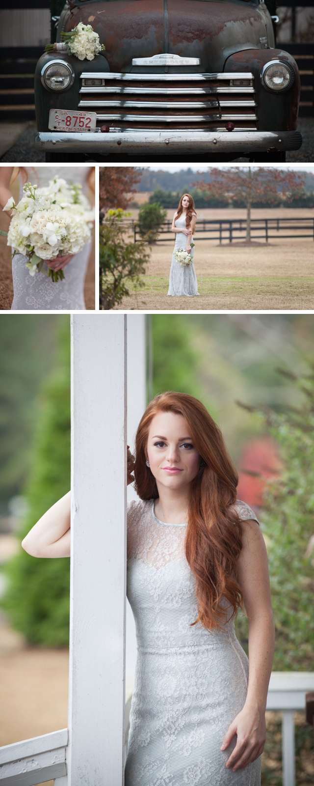 A horse farm bridal session by Leigh+Becca || see more at blog.nearlynewlywed.com