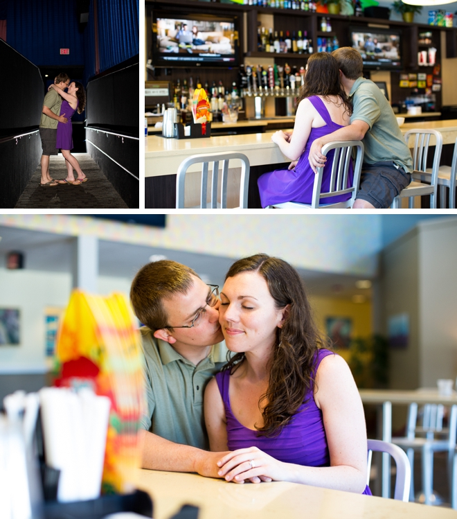 Beach Movie Bistro Engagement by Leigh Skaggs Photography