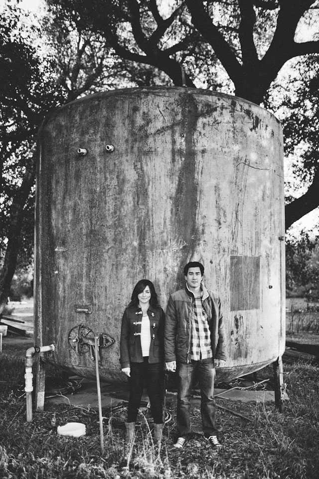 A Christmas tree farm engagement session capped off with a round of hard cider // photos by Let's Frolic Together: http://www.letsfrolictogether.com || see more on https://blog.nearlynewlywed.com