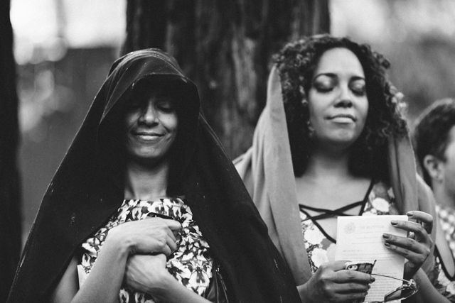 A rugged, foggy mountain wedding in the redwoods by Let's Frolic Together || see more on blog.nearlynewlywed.com