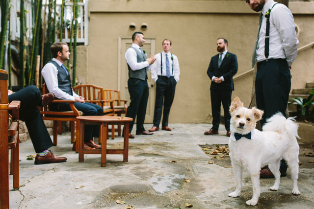 A California seaside wedding with emerald green and geometric details | Let's Frolic Together: http://www.letsfrolictogether.com