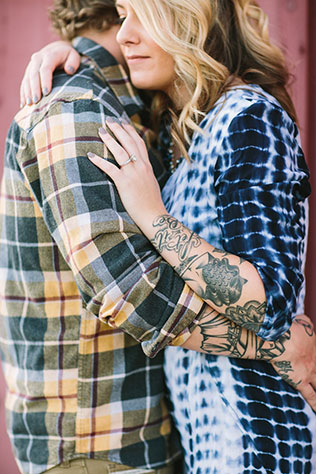 A rustic ranch engagement session with tattoos, pugs and beautiful sunlight by Let's Frolic Together