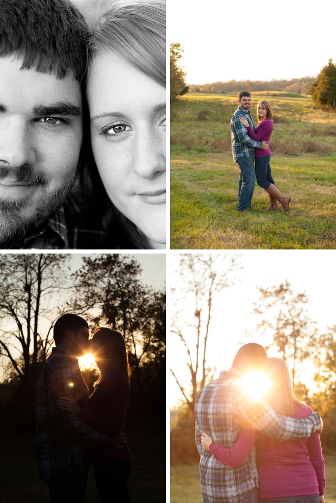 Autumn engagement session at a family farm by Limefish Studio || see more on blog.nearlynewlywed.com