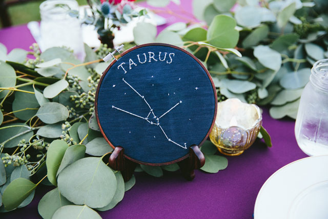 A fabulously creative and eclectic celestial retro ranch wedding by Linda Abbott Photography and Moxie Bright Events