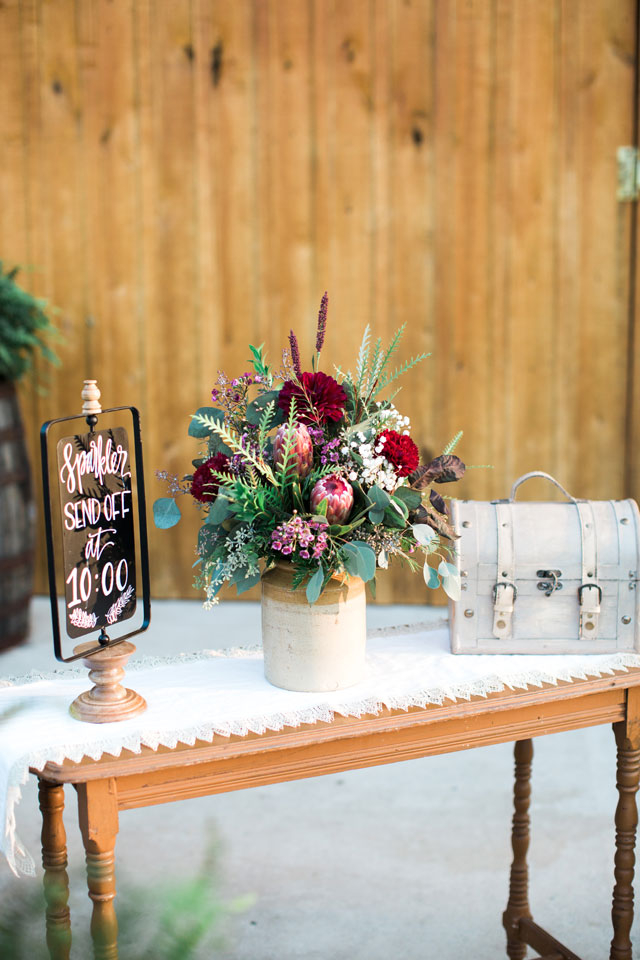 An autumn wedding with sweet handmade touches and a palette of rich plum and gray by Lindsay Campbell Photography