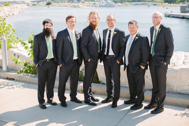 A green farm to table wedding at a historic Milwaukee venue by Lisa Mathewson Photography