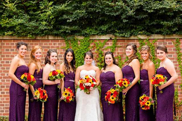 A lovely purple autumn wedding in Akron at the Stan Hywet by Loren Jackson Photography