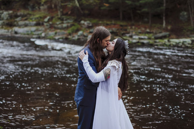 A jewel toned waterfall wedding in the Poconos by Love Me Do Photography