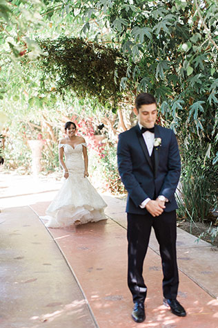An enchanting garden wedding with a palette of violet, navy and gold in Moorpark by Lucas Rossi Photography and CMG Weddings and Events