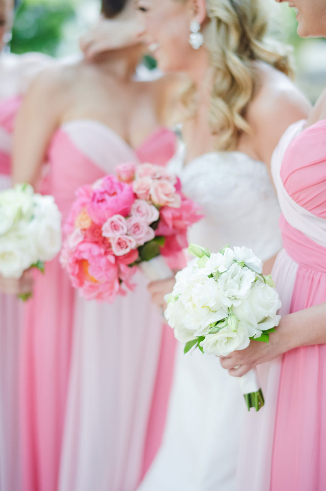A glam pink ombre and blue Captiva Island destination wedding for a military couple by Luminaire Foto