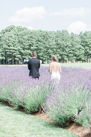 A classic and elegant lavender filled wedding in a garden on Chesapeake Bay by Manda Weaver Photography