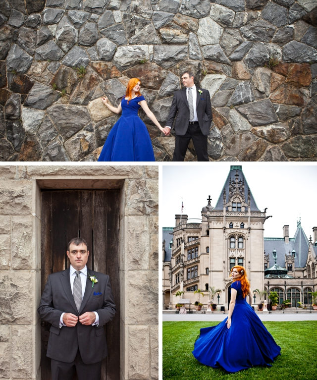 A breathtaking bride in a vibrant blue dress by Matt Andrews Photography || see more on blog.nearlynewlywed.com
