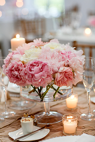 An elegant pink wedding with gorgeous peonies // photos by Marie Labbancz Photography: http://www.artoflove.com    see more on https://blog.nearlynewlywed.com