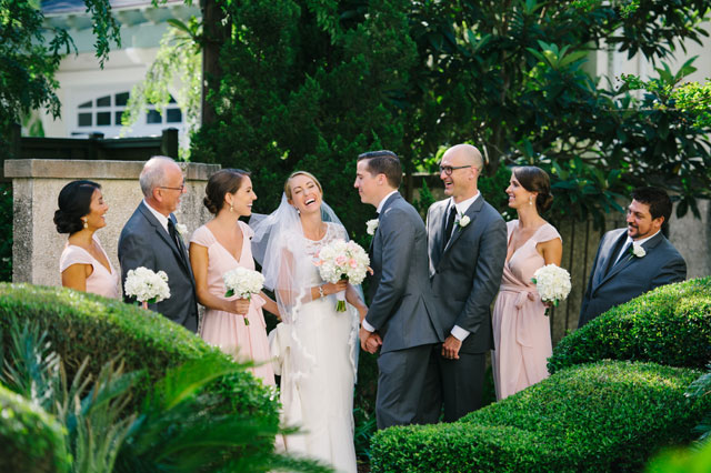 An elegant blush Southern wedding in St. Augustine with a classic church ceremony and a ballroom reception // photo by Marissa Moss Photography: http://www.marissa-moss.com    see more on https://blog.nearlynewlywed.com