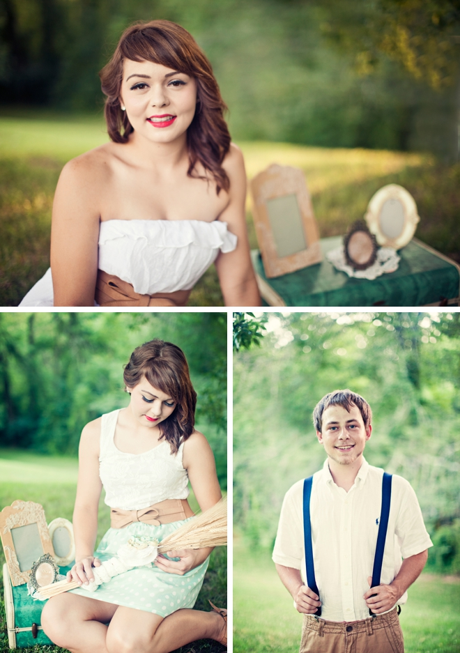 A vintage-inspired engagement in Tennessee by Mary Sandoval Photography || see more at blog.nearlynewlywed.com