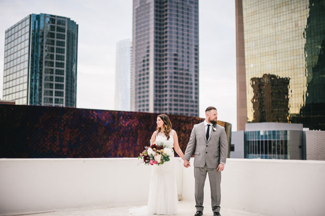 An organic Dallas wedding on an urban rooftop with eclectic details by Matt McElligott Photography and Urban Magnolia Weddings and Events