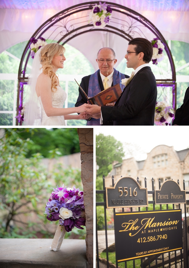 A traditional spring wedding in Pennsylvania with purple details by Meaghan Elliott Photography || see more on artfullywed.com