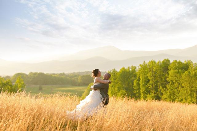 A gorgeous spring rose quartz mountain wedding in Virginia by Megan Vaughan Photography