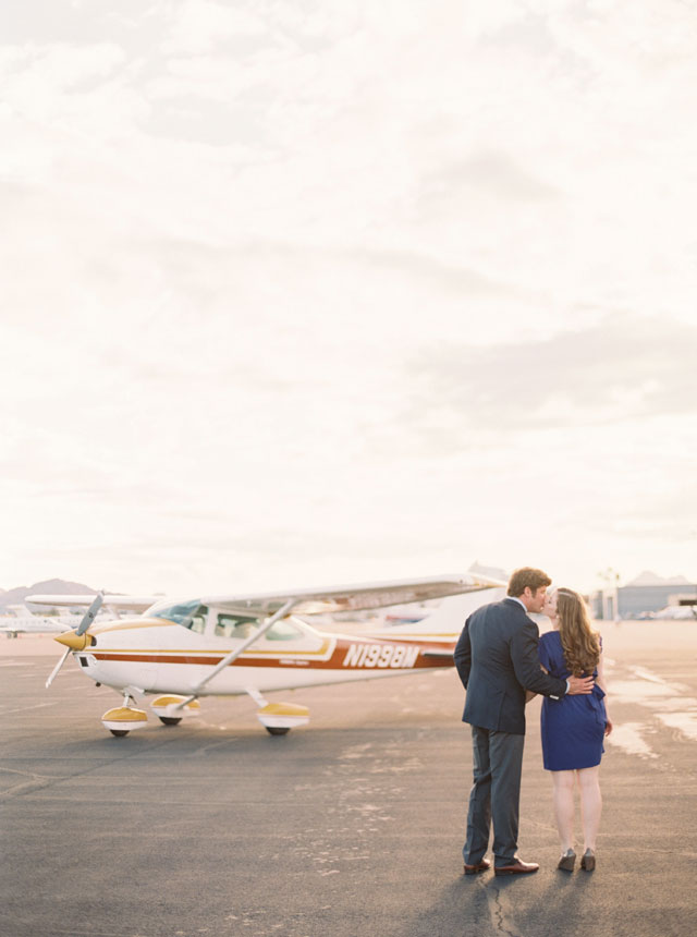 A romantic engagement session at a private airfield | Melissa Jill Photography: http://www.melissajill.com