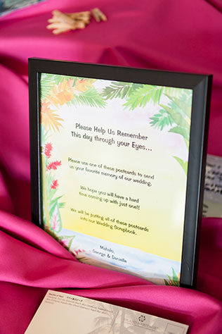 A modern and elegant pink ombre wedding in Maui by Mike Adrian Photography