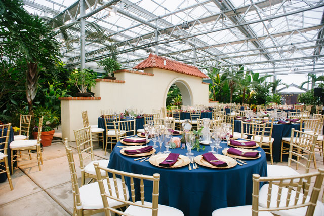 A Roger Williams Botanical Center wedding with geodes, minerals, botanicals and jewel tones by Olivia Gird Photography