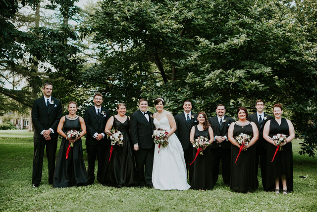 A classic and elegant travel themed wedding with a black and white stripe motif by Pam Cooley Photography and Pollen and Pastry