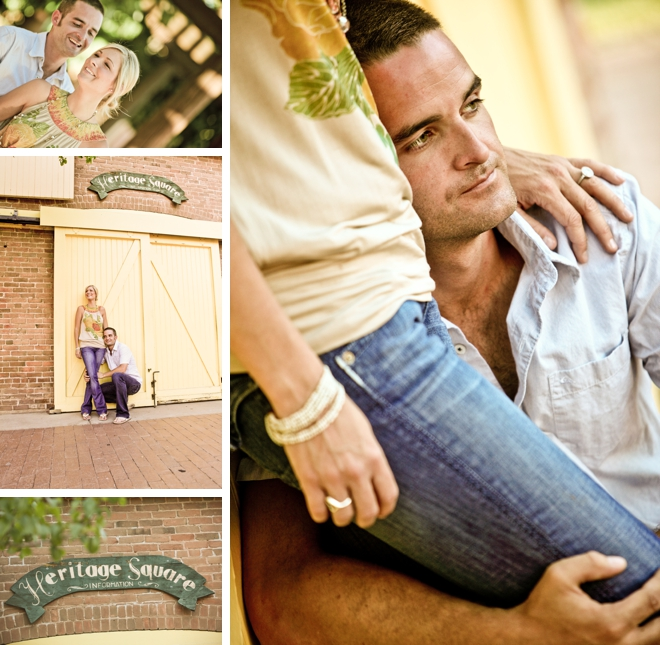 Heritage Square Engagement by Photography by Verdi