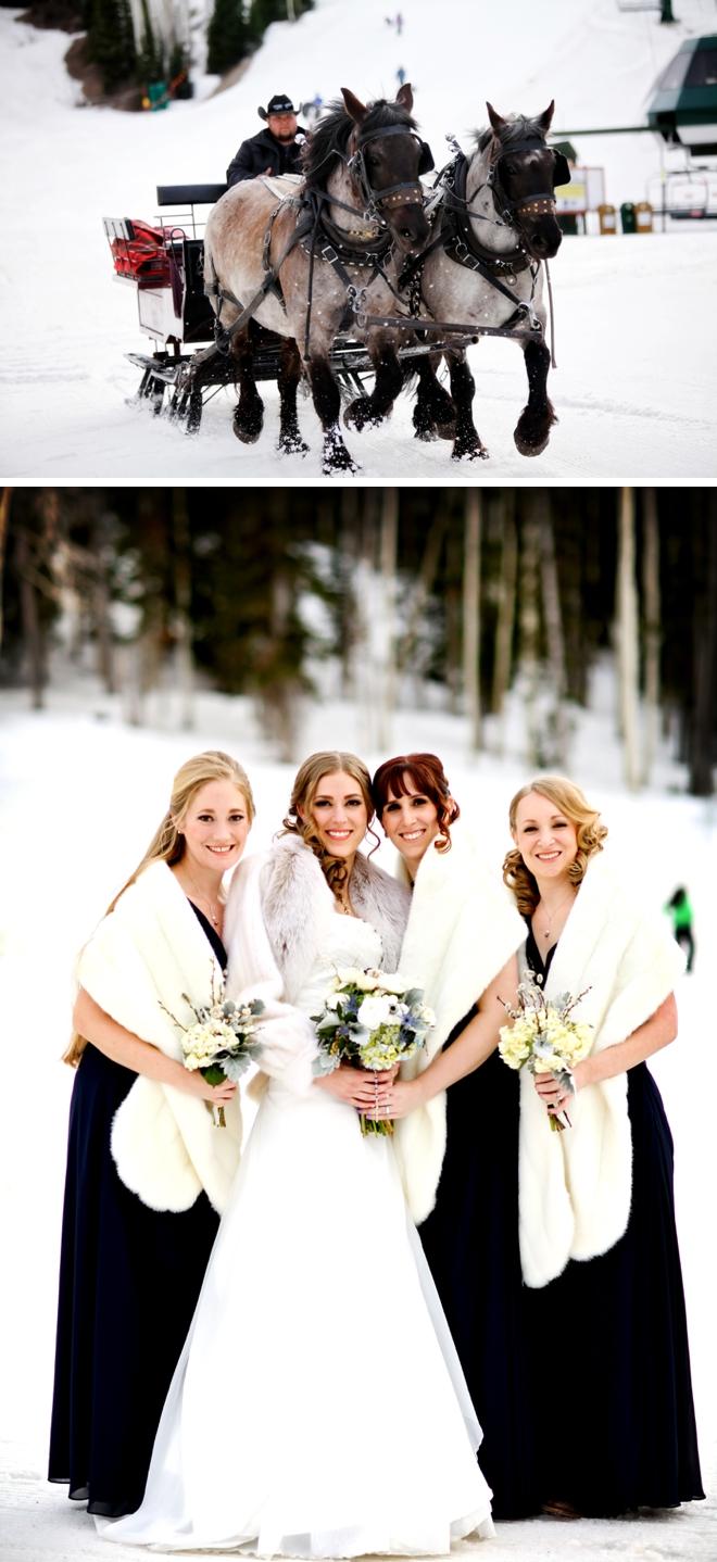 Snowy Deer Valley Resort Wedding by Pepper Nix Photography