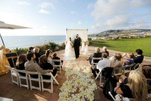 A glam pink and gold Laguna Niguel wedding at The Ritz-Carlton by Pepper Nix Photography