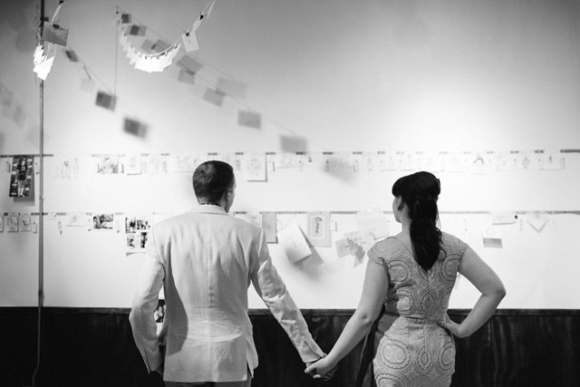 A brilliant and creative wedding for two artists in Chicago with a reception at a local gallery | Perregeaux Wedding Photography: http://www.perregeaux.com