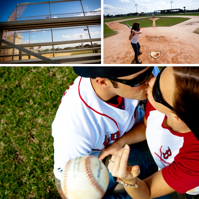 Baseball & tattoos engagement session by Pilster Photography || see more at blog.nearlynewlywed.com