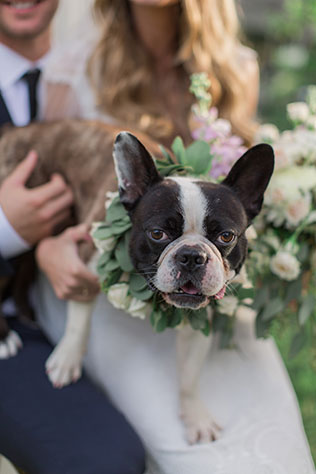 A floral-inspired Florida coastal wedding with an adorable French Bulldog by PSJ Photography