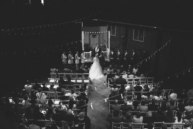 A unique backyard-themed DIY opera house wedding in Pittsburgh // photos by Rachel Rowland Photography: http://rachelrowland.com    see more on https://blog.nearlynewlywed.com