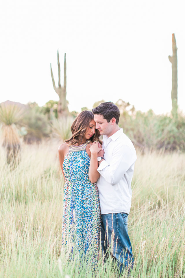 A boho chic desert botanical garden engagement in Arizona // photo by Rachel Solomon Photography: http://rachel-solomon.com || see more on https://blog.nearlynewlywed.com