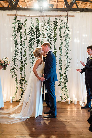 A romantic and industrial winter wedding in Atlanta by Rustic White Photography