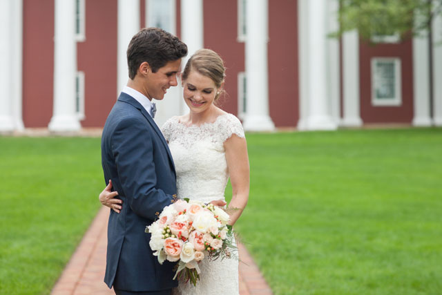 A beautiful mint and blush estate wedding in the heart of the Blue Ridge Mountains | Ryan & Rach Photography