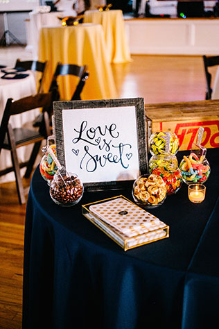 A classic gold wedding in Charleston with elegant details and fruit infused decor by Sara Bee Photography