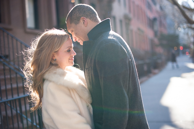 A cozy, early morning engagement shoot in Brooklyn Heights by Sarah Box Photography    see more on blog.nearlynewlywed.com