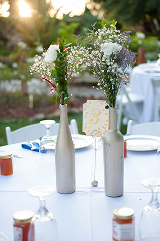 A fairy tale royal blue and magenta backyard wedding in California by Sarah Dupree Photography