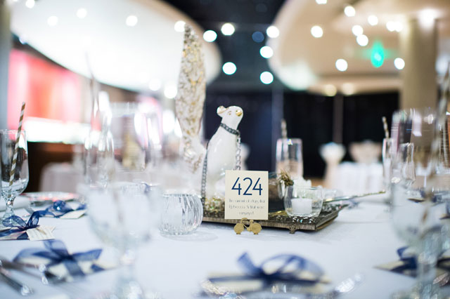 A glittering gold vintage-meets-modern wedding at the opera house in Denver   Selah Photography: selahphotography.org