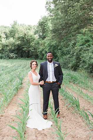 A timeless DIY backyard wedding at a family home in Southern Illinois by Shot by Chelsea