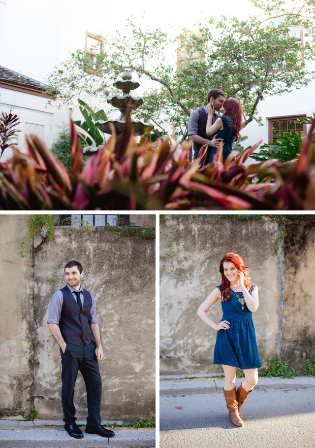 A sweet engagement session all around St. Augustine by Soleil Boucher || see more on blog.nearlynewlywed.com