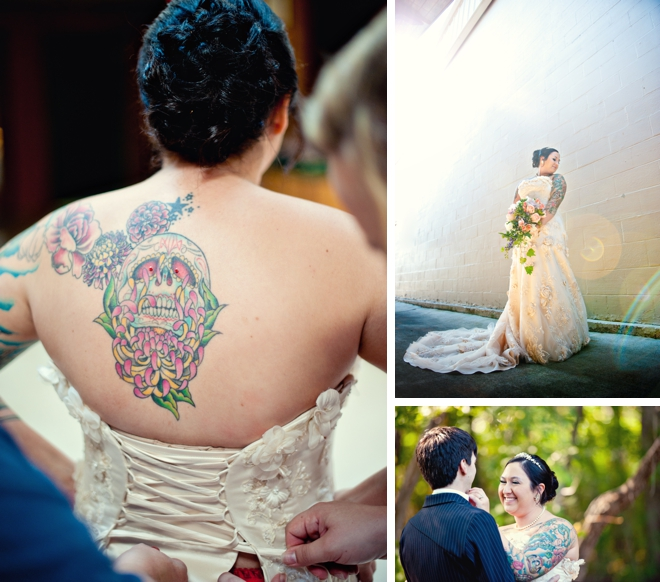 Day of the Dead wedding by Scobey Photography || see more at blog.nearlynewlywed.com