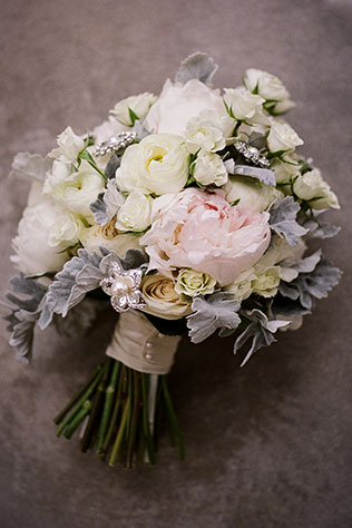 A classic ballroom Saratoga Springs wedding with elegant details and a palette of silver, ivory and blush by Speer Images