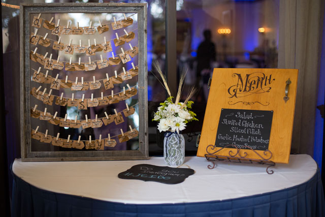 A rustic summer wedding in rich cobalt blue with pops of yellow | Stephanie A Smith Photography: http://www.StephanieASmith.com