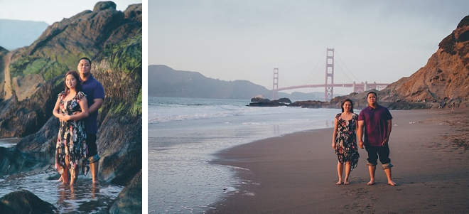 Baker Beach Engagement by Stephanie Court Photography on ArtfullyWed.com