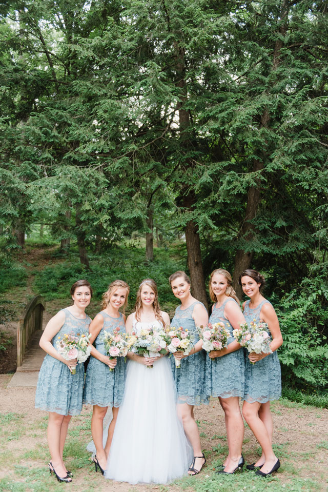 A sweet North Carolina wedding in Serenity and Rose Quartz by Sunshower Photography