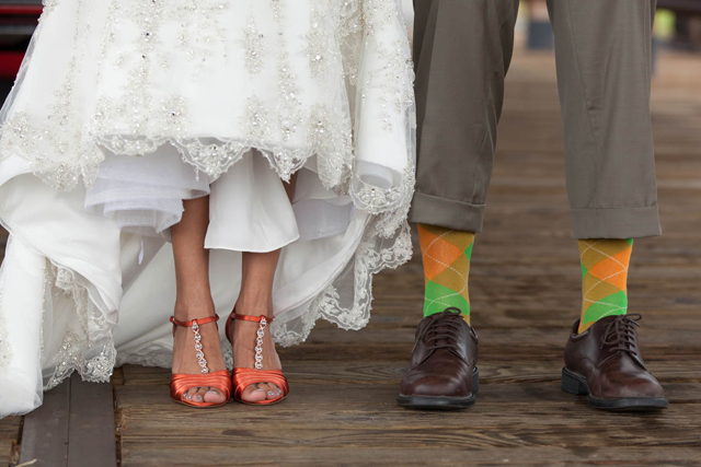 A rustic orange ranch wedding in Arizona with lots of creative DIY details // photos by Tangled Lilac Photography: http://www.tangledlilac.com || see more on https://blog.nearlynewlywed.com