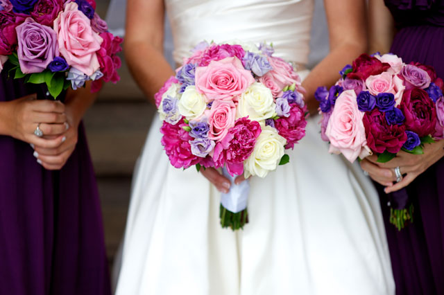 An elegant pink and purple summer country club wedding   Therese Marie Wagner Photography: http://www.theresephoto.com